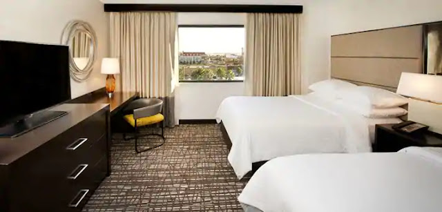 The Embassy Suites Las Vegas hotel provides spacious two room suites, free breakfast and is across the street from UNLV and only 2 miles from the Las Vegas Airport.