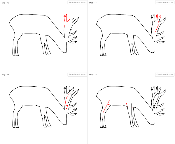 Fpencil: How to draw Deer for kids step by step
