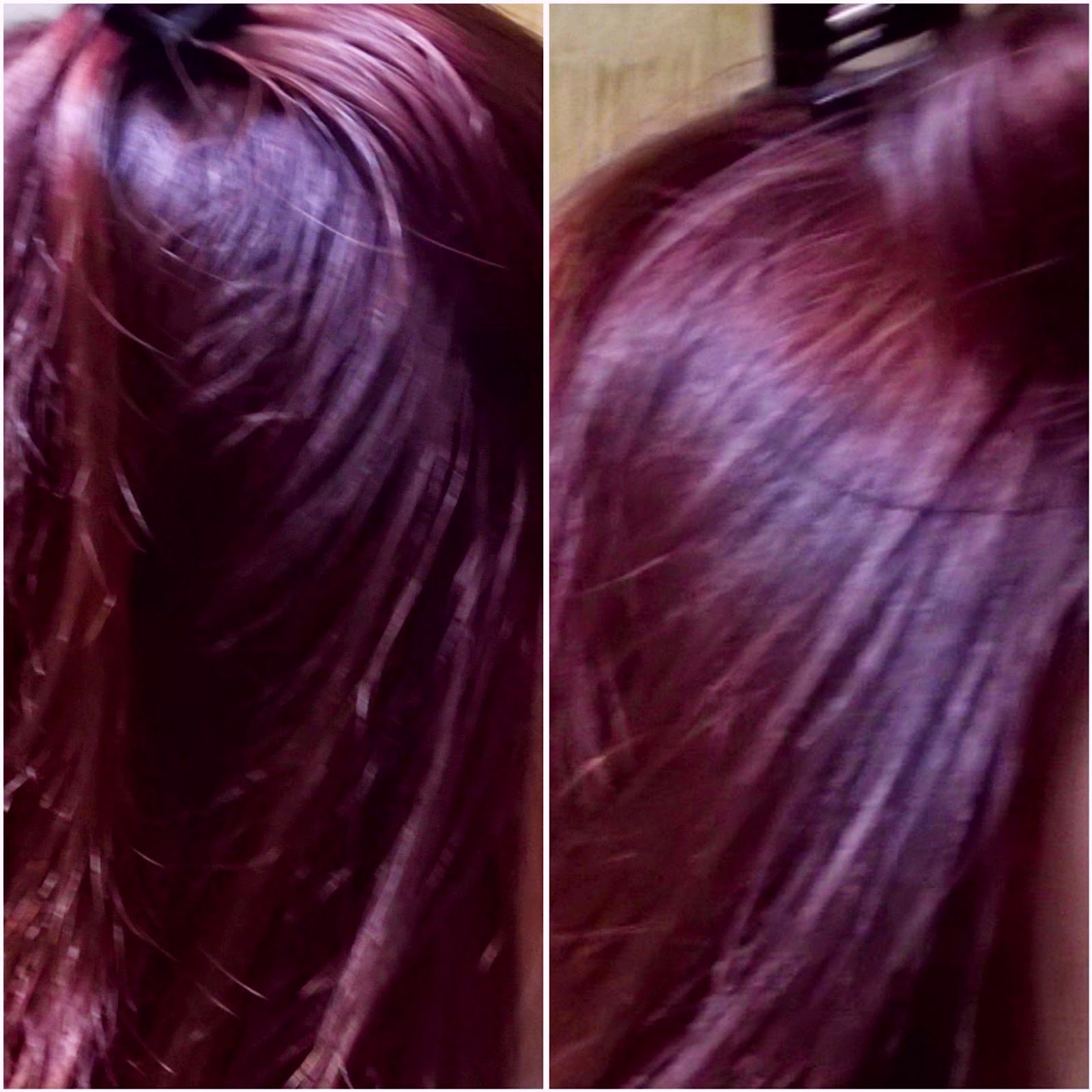 Color prugna su capelli biondi