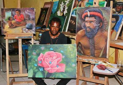 Yanto Gombo, Pelukis Muda Papua yang Memulai dari Hobi