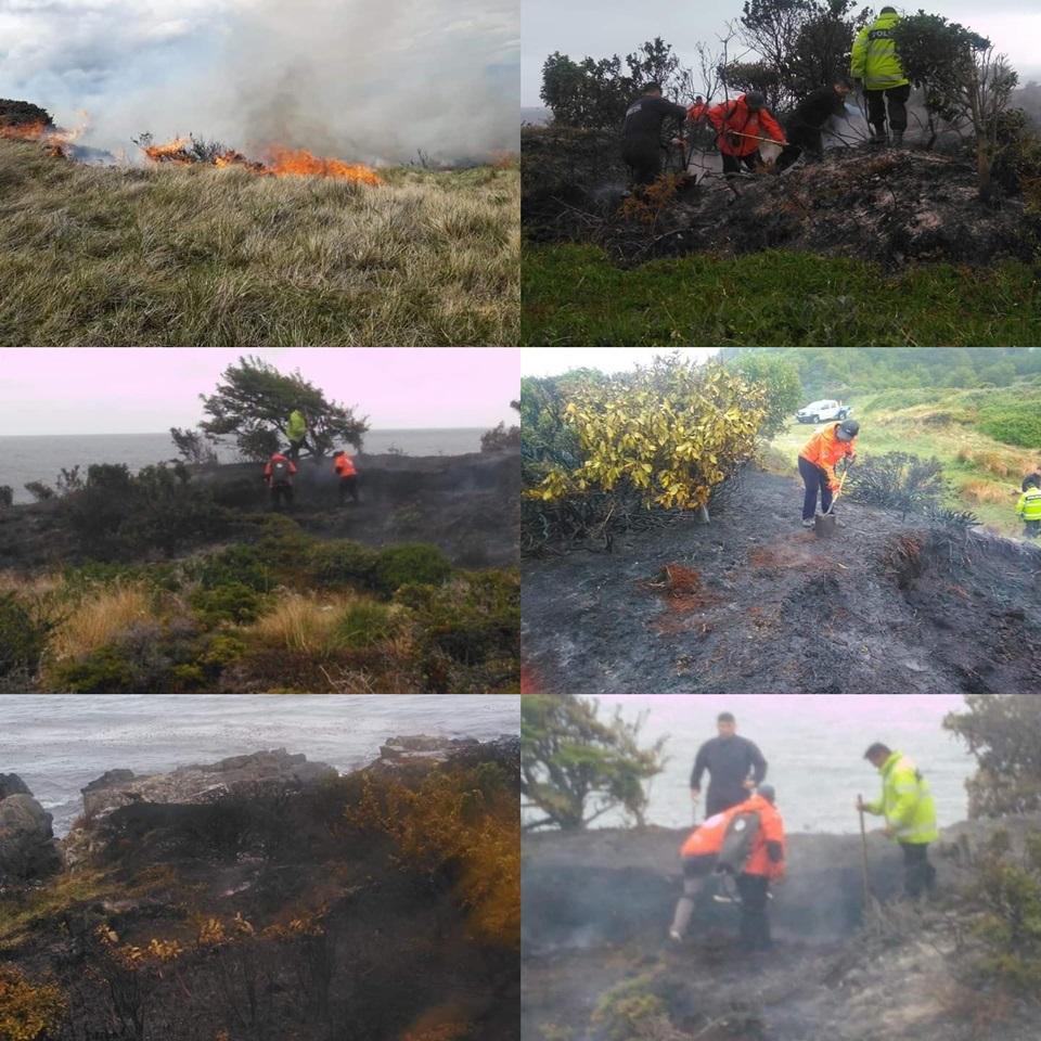 Incendio forestal en la Ruta J