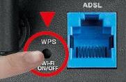 Tombol WPS pada router Wi-Fi