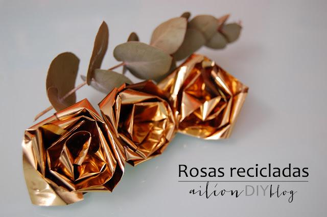 upcycled rose rosa reciclada diy chips bag
