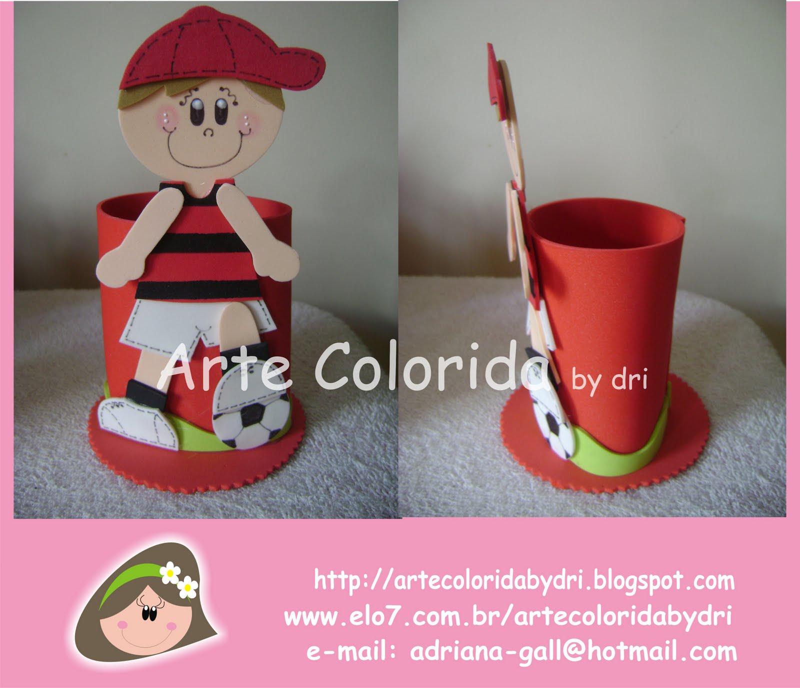 Arte Colorida  Lembrancinha flamengo cf1ef50a40755