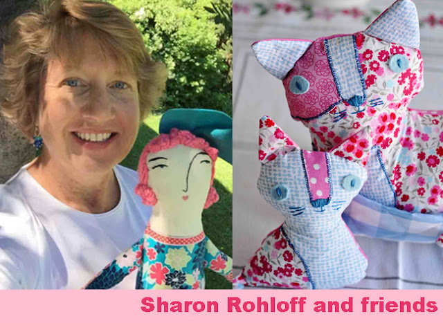Sharon Rohloff, Pink Ginger Kitty on Etsy, The Teacup Incident, Stuffed Toys