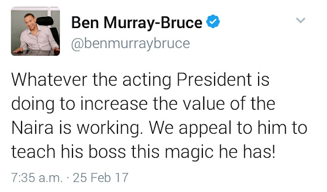 Osibajo should lecture Buhari- Bruce