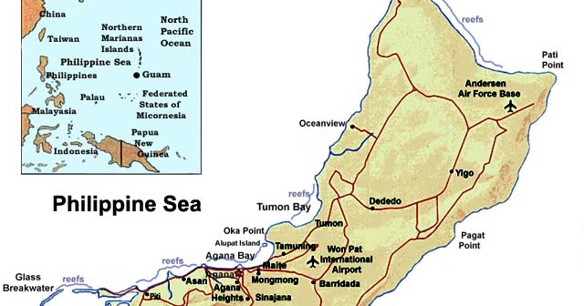 Submarine Matters Guam Nuclear Submarine And Air Base - Us submarine bases map submar