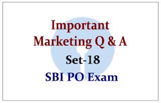 Important Marketing Questions- Set 18