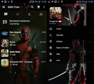 BBM Mod Deadpool v2.12.0.11 Apk