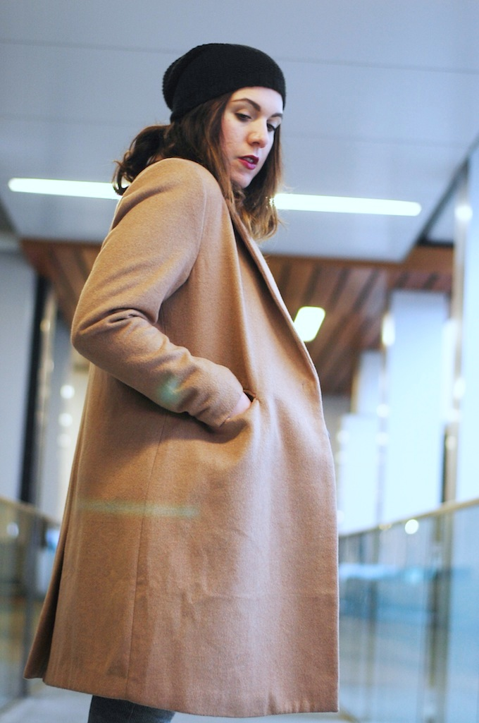 camel coloured wool coat