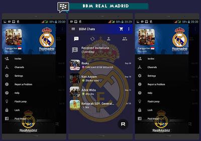 BBM MOD Real Madrid Base 3.0.0.18 Apk Update Terbaru
