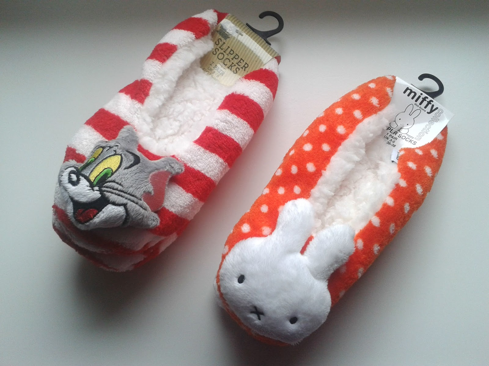 Primark Miffy and Tom & Jerry Slipper Socks