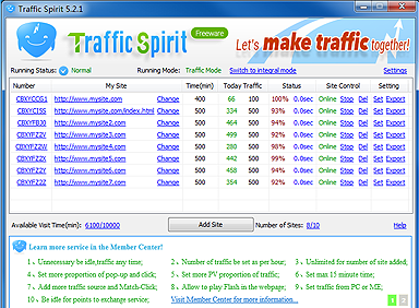 Download  software traffic website