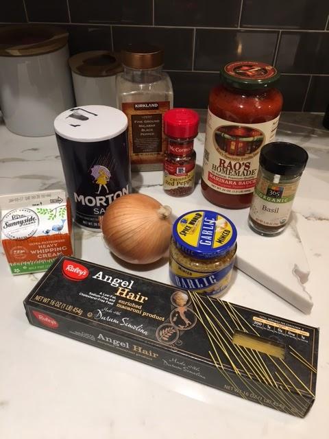 Spicy Tomato Cream Pasta ingredients