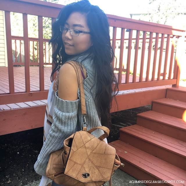 OOTD: Stripes for Spring Brown Backpack Gamiss review - Andrea Tiffany A Glimpse of Glam