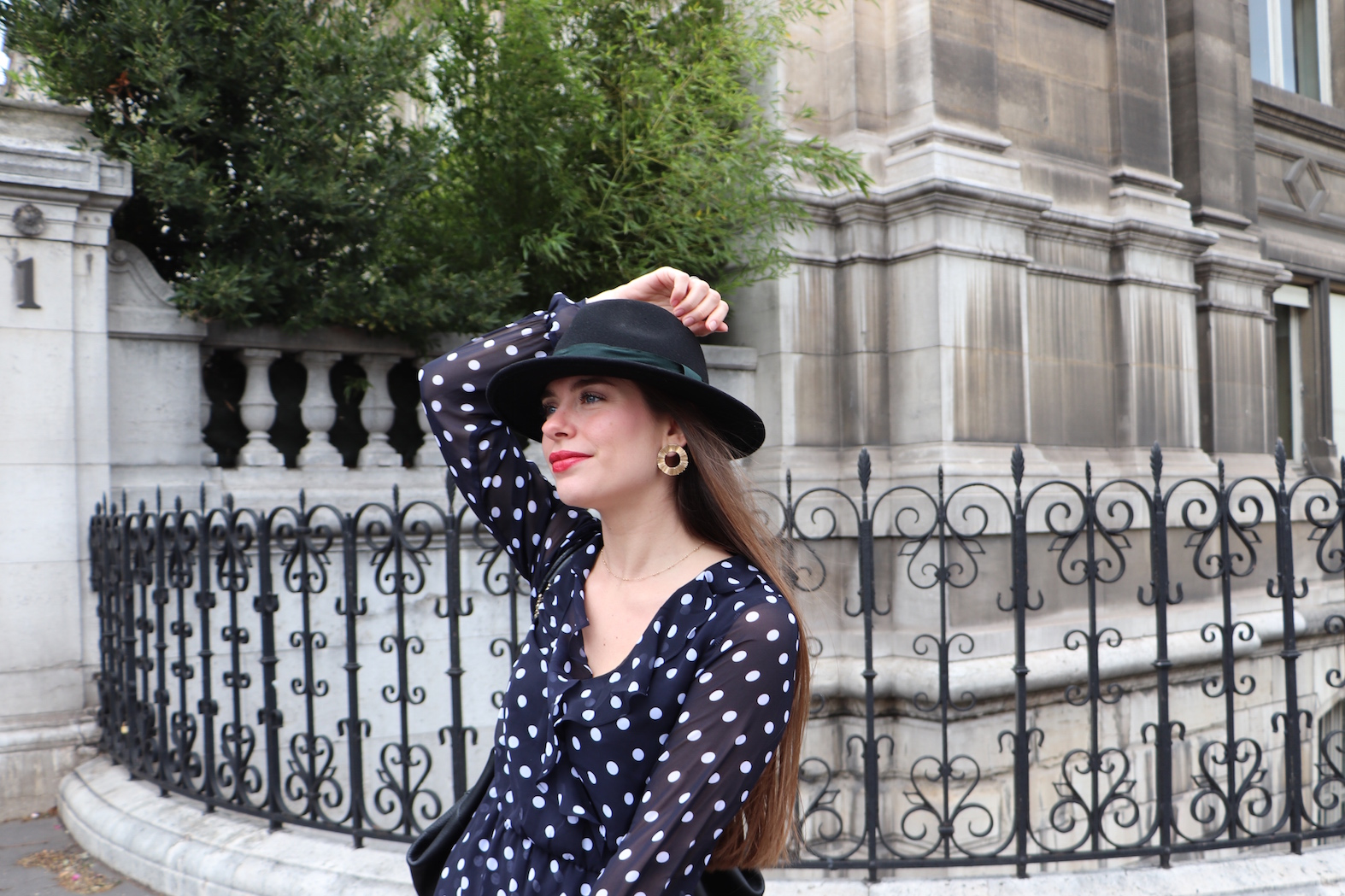 look robe à pois H&M 2