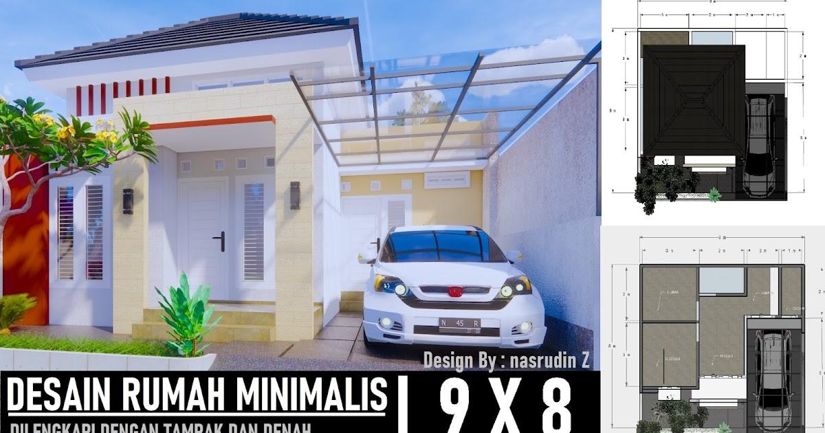rumah ukuran 9x8 3 kamar tidur