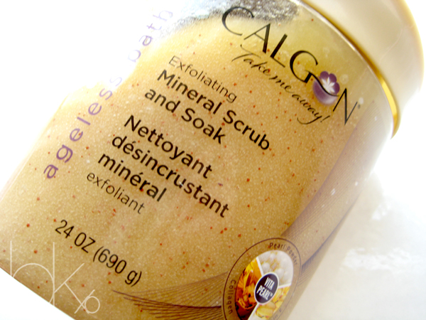 Calgon Ageless Bath Exfoliating Mineral Scrub and Soak Review