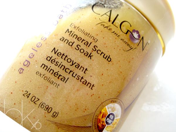 Calgon Ageless Bath Exfoliating Mineral Scrub and Soak Review
