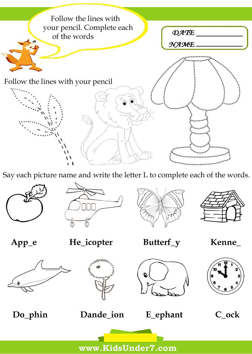 Worksheets Letter L Worksheets For Preschool kids under 7 letter l worksheets worksheets