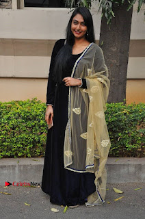 Actress Grace Myrtle Pos in Black Anarkali Dress at Beep Short Film Press Meet  0010.jpg