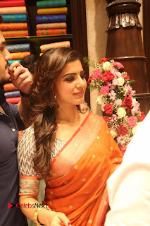 Actress Samantha Pictures in Saree at South India Shoping Mall Launch 0256