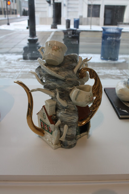 Hurricane teapot at Racine Art Museum