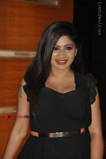 Telugu Actress Model Madhulagna Das Latest Spicy Stills in Black Short Dress  0010.JPG