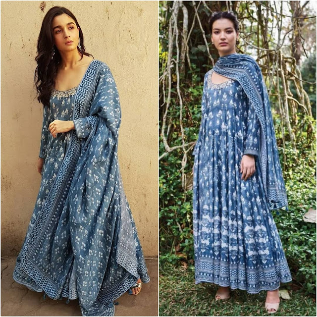 Alia Bhatt in Anita Dongre for Raazi Promotions