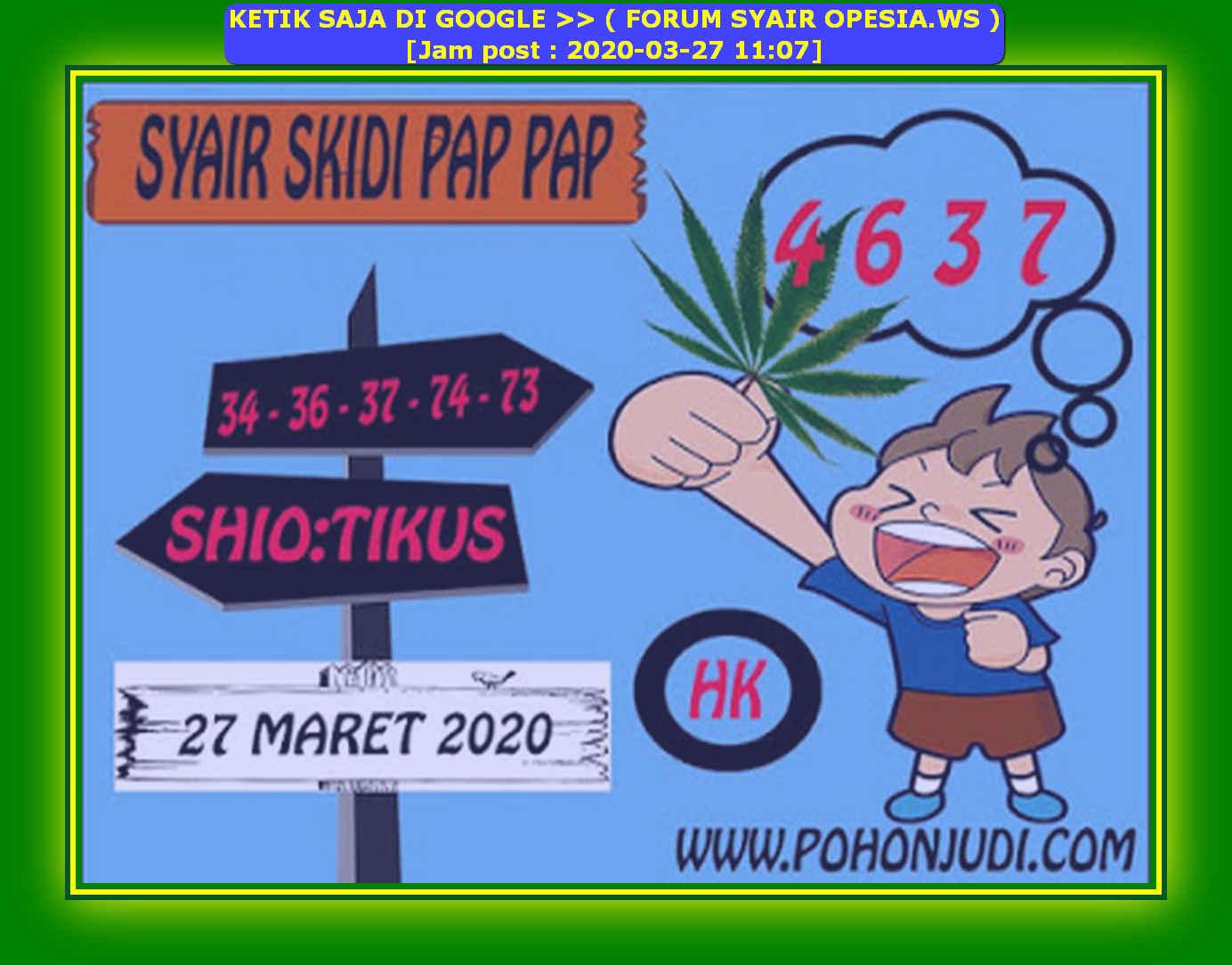 Kode syair Hongkong Jumat 27 Maret 2020 174