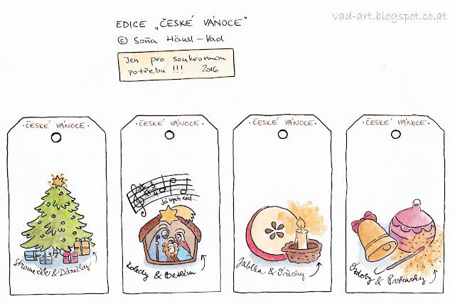 vánoční visačky zdarma