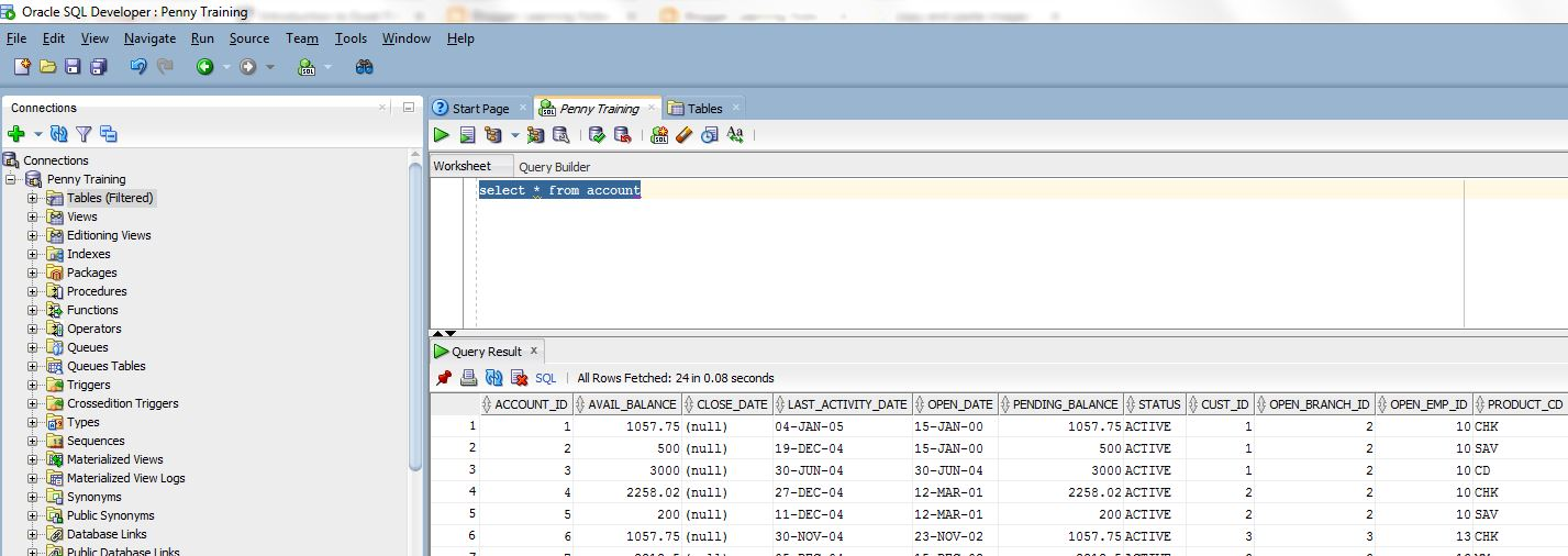 Oracle SQL Data Analysis - Basic Data Extraction from a sample bank