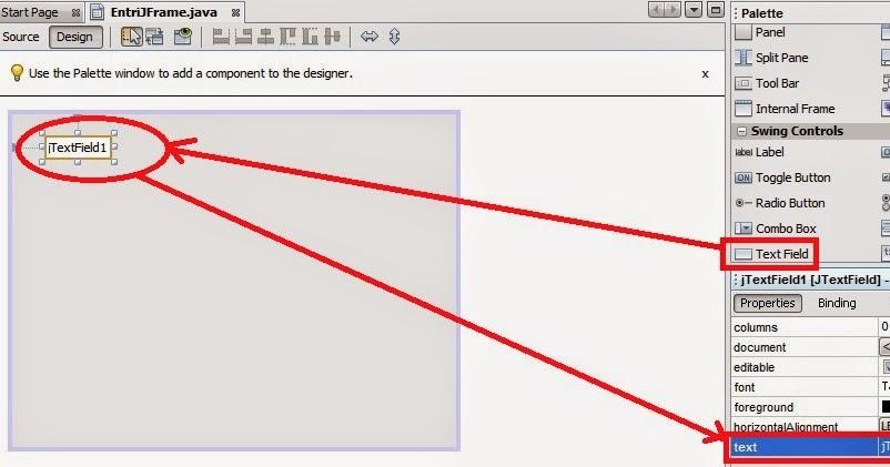 Cara Membuat Desain Form Entri Dengan TextField Untuk Java ...