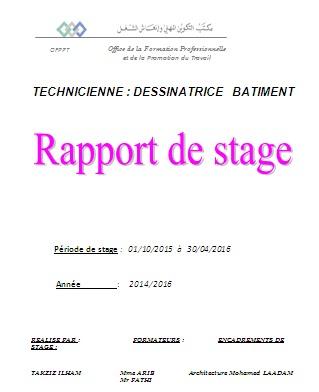 rapport de stage ofppt gratuit