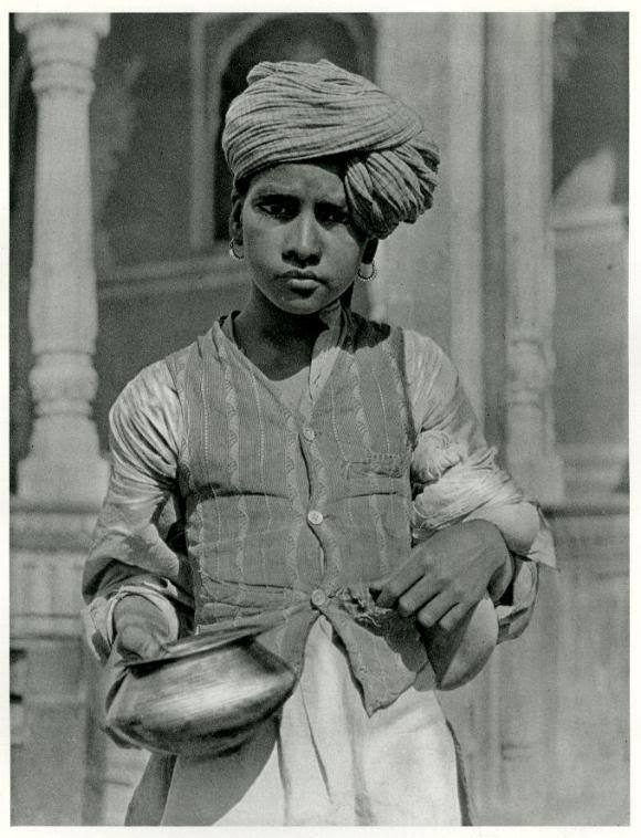 Portrait of a Young Boy in the Street of Jaipur, Rajasthan - 1928