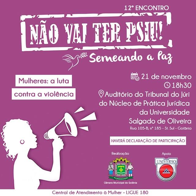 Goiânia: 12º Encontro em Defesa da Mulher