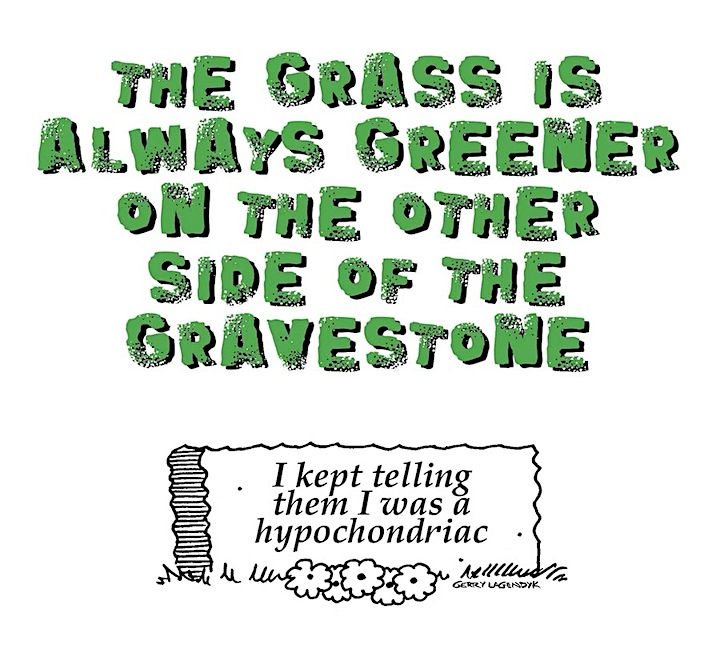 gallows humor, gravestone cartoon