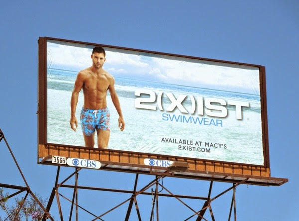 2(X)ist men's swimwear Summer 2014 billboard