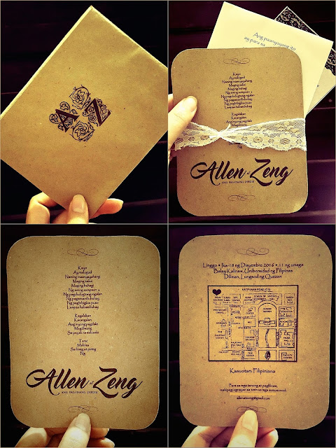 #AllenAtZeng wedding invitation