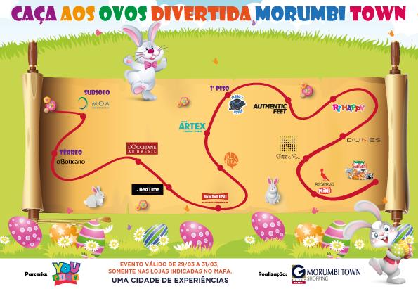 Caça aos Ovos do Morumbi Town Shopping celebra a Páscoa com muito chocolate e diversão