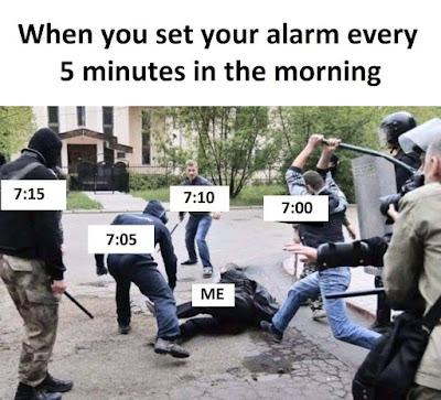 Poner el despertador cada 5 minutos por las mañanas