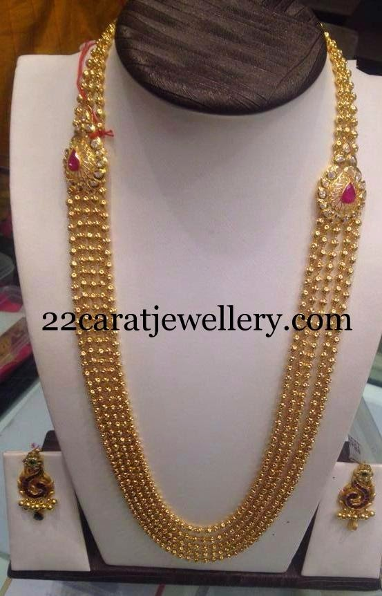 Small Balls Chandra Haram Jewellery Designs
