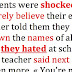 Teacher forces students to write names of classmates they hate