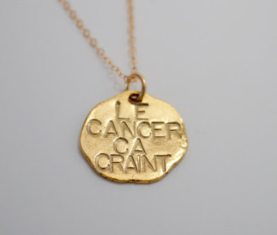 Le Cancer Ca Craint Necklace on Etsy