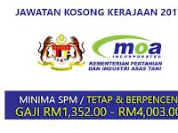 Jawatan Kosong di Kementerian Pertanian & Industri Asas Tani MOA - Terbuka 2017 / Jawatan Tetap