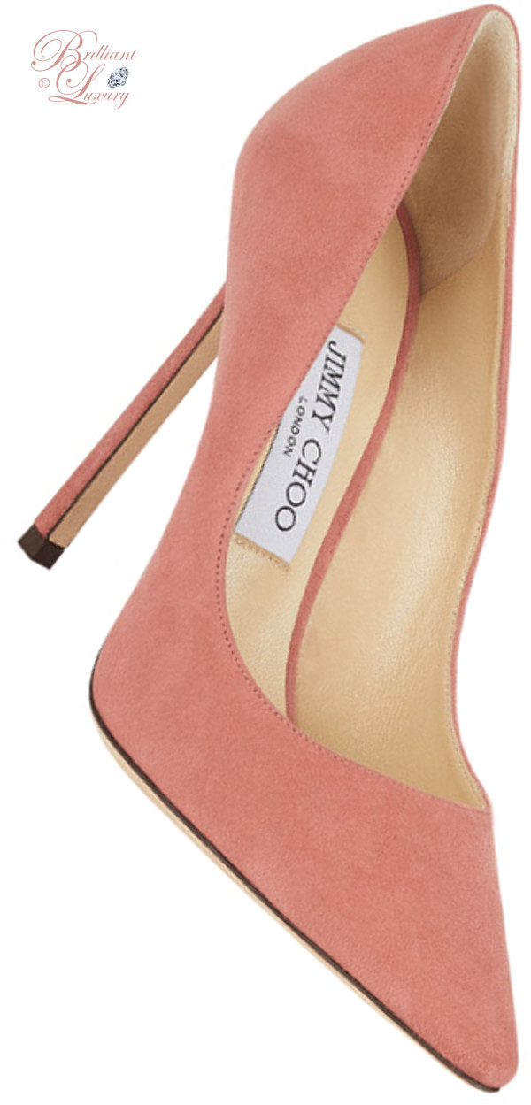 Brilliant Luxury ♦ Jimmy Choo Romy Rosewood Suede Pointy Toe Pumps