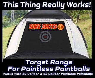 Paintless Paintball Target Demonstration