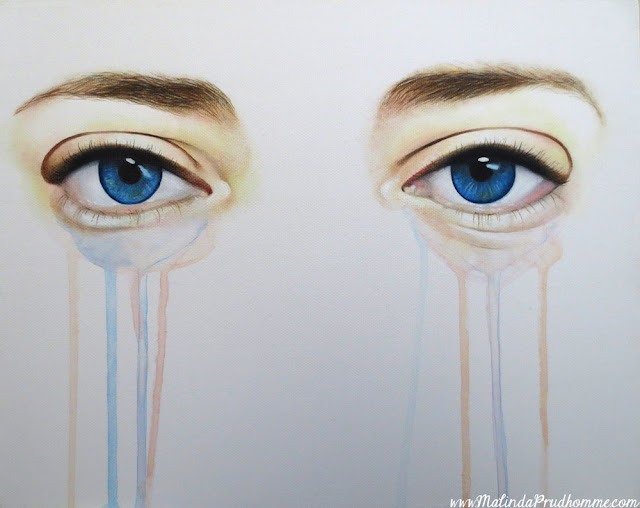 eye, eyes, eye art, blue eyes, eye painting, baby blues, calm, calm eyes, eye art, malinda prudhomme, toronto portrait artist, toronto artist, canadian artist, custom eye art, commission, original artwork