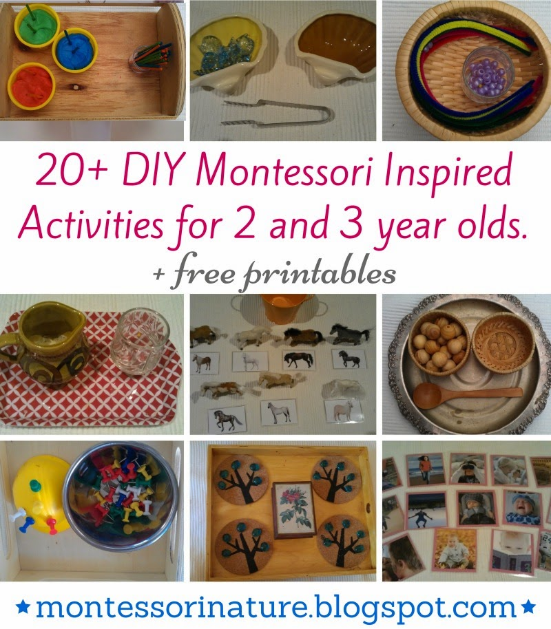 20 Diy Montessori Inspired Activities For 2 And 3 Year Olds
