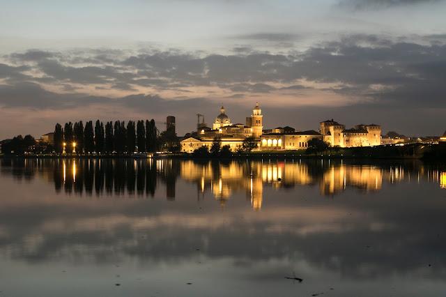 Skyline di Mantova vista dalla rocca di Sparafucile
